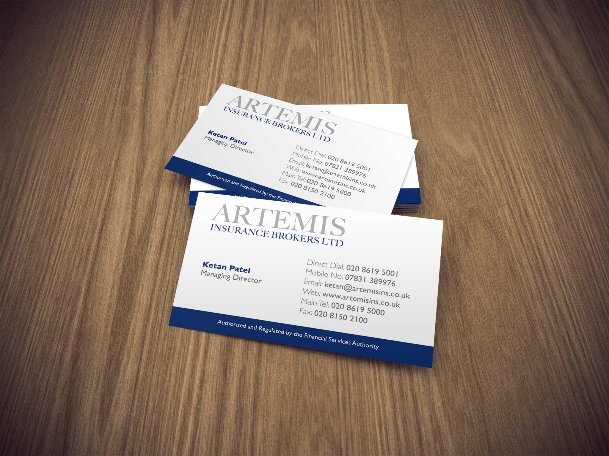Artemis Business Cards