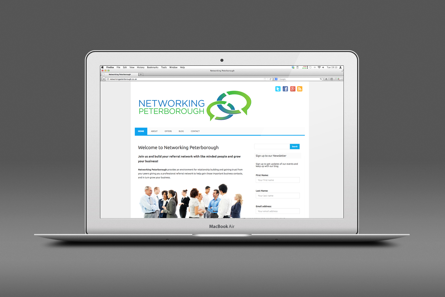 Networking Peterborough Website