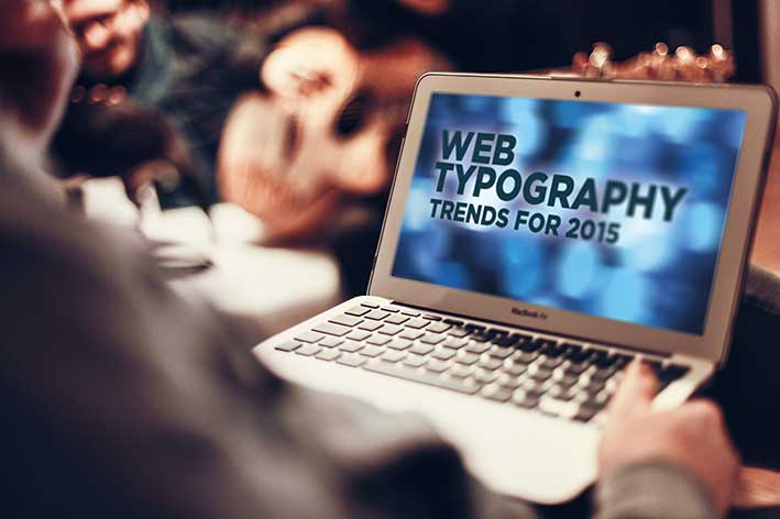 Typography in web design - trends for 2015